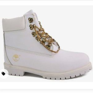 Timberland Limited Addition Gold & All White Boot